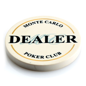 Monte Carlo Ceramic Dealer Button