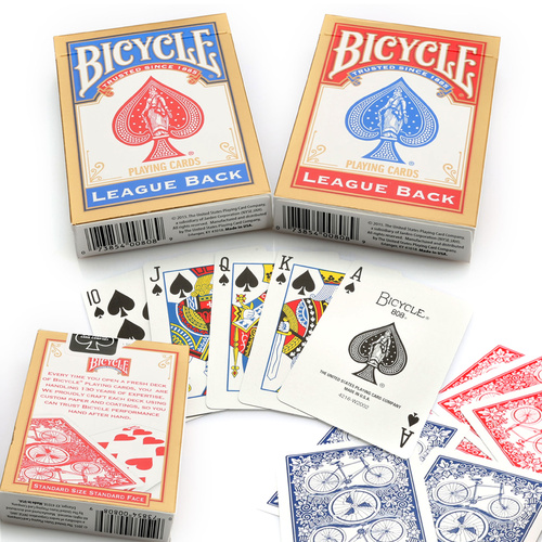 BICYCLE 'LEAGUE BACK' PLAYING CARDS BLUE
