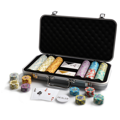 Aussie Currency 300 Chip Silver Case Set