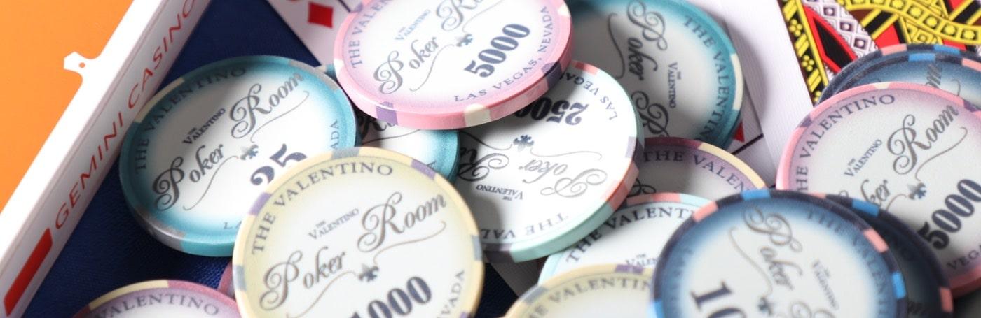 Buy poker chips - Geschilderde bundel ...