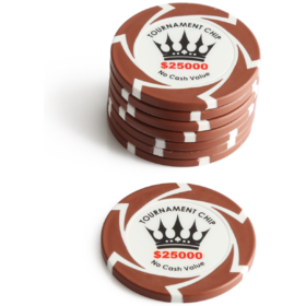 $25000 Crown Millions Poker Chip