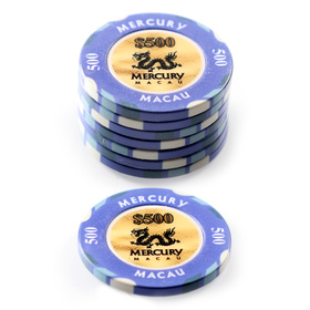 $500 Mercury Macau Poker Chip
