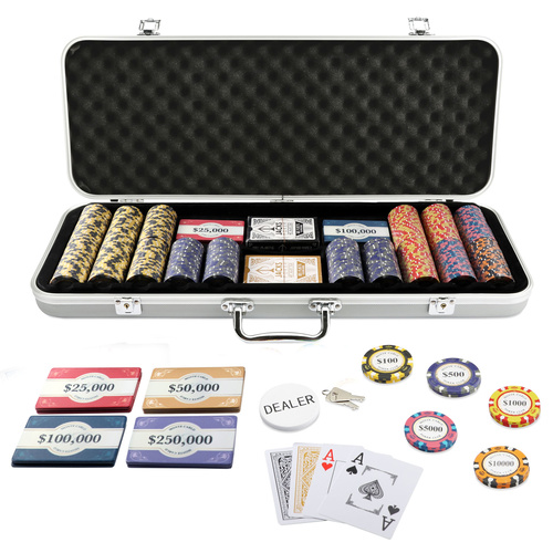 Monte Carlo 400 Chip / 10 Plaque Set Silver Case
