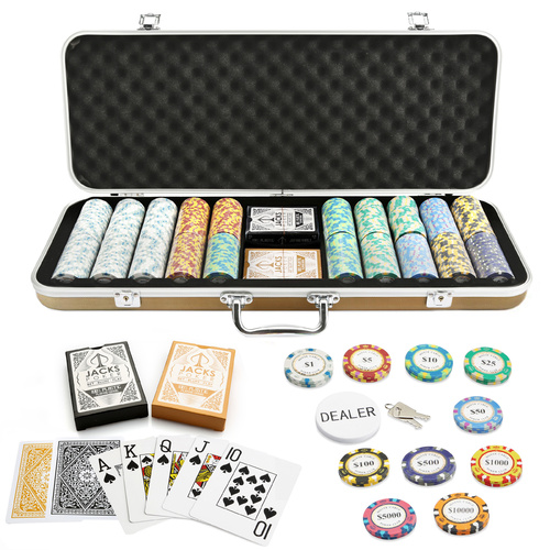 Monte Carlo 500 Chip Gold Case Set