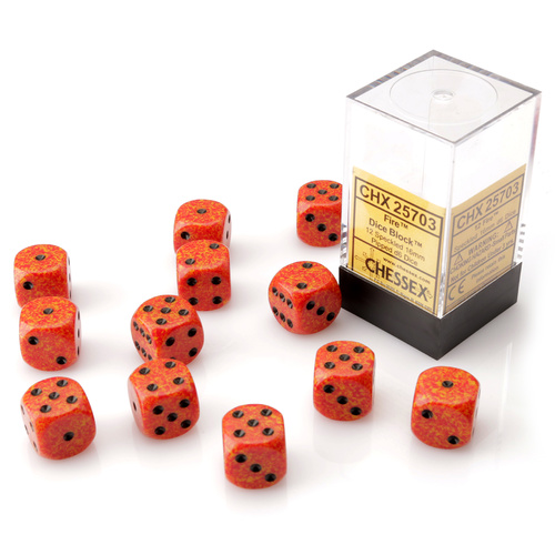 Chessex Fire Dice Block™ (12 dice)