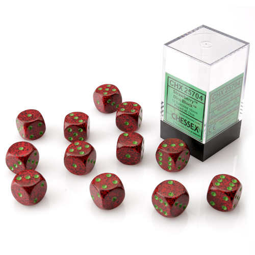 Chessex Strawberry Dice Block™ (12 dice)