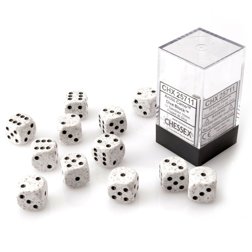 Chessex Arctic Camo Dice Block™ (12 dice)