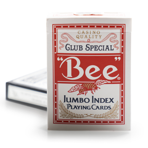 Bee Club Special Playing Cards Jumbo Index - Red