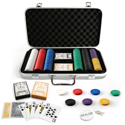 Bold Icon 300 Chip Silver Case Set