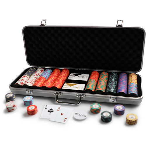 Port Royal 500 Chip Silver Case Set
