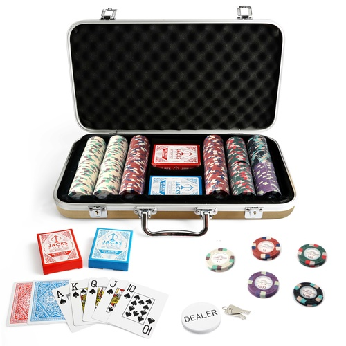 Monaco Club 300 Chip Gold Case Set