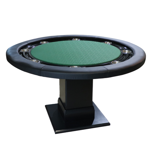"The Moneymaker - Green 55"" Round Poker Table"